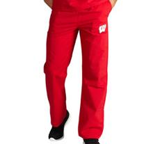 University of Wisconsin Unisex College Scrub Pants 5310